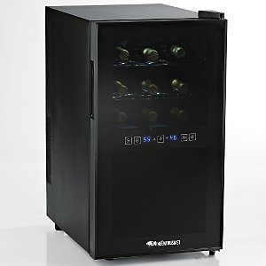 Wine Enthusiast Silent 18 Bottle Touchscreen Wine Refrigerator (2-Temp)