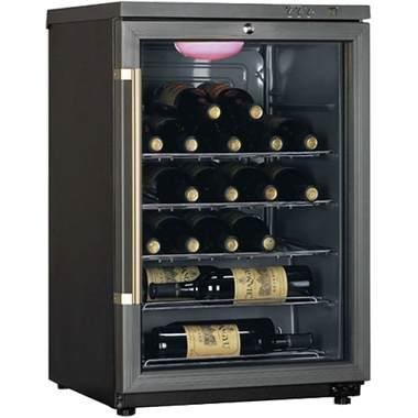 Haier HVF024BBG 24-Bottle Single-Zone Wine Cellar, Black
