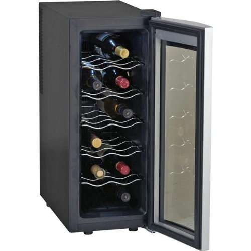 12-Bottle Counter Top Single-Zone Wine Cooler