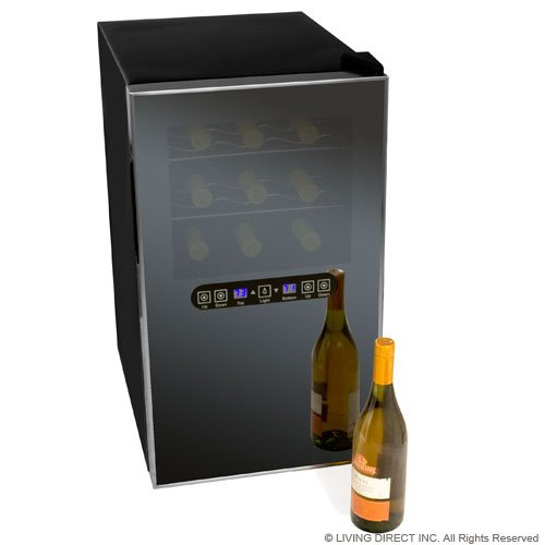 EdgeStar Stainless Steel 18 Bottle Dual Zone Thermoelectric Wine Cooler - Digital Control