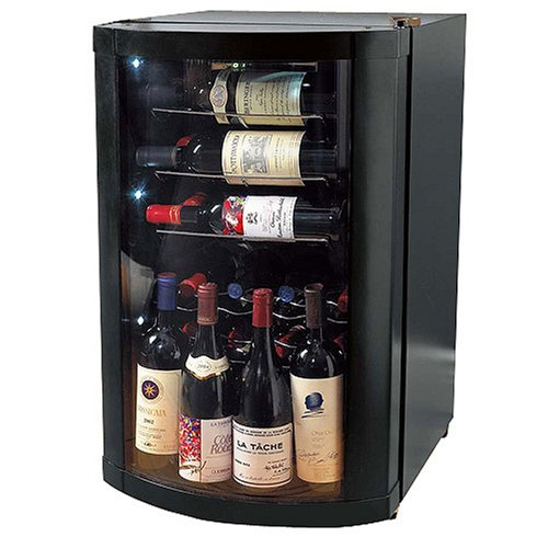 The Wine Enthusiast Vino-View 35-Bottle Wine Cellar - Black