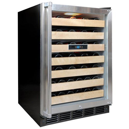 Vinotemp VT-50SBW 50-Bottle Wine Cooler with Digital Display