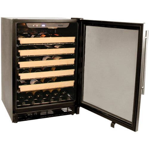 Haier HVCE24CBH Built-In or Freestanding 50-Bottle Wine Cellar with LED Display
